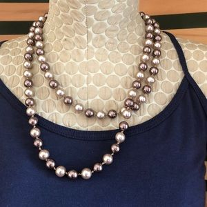💍 Shades of Brown Pearl Style Necklace